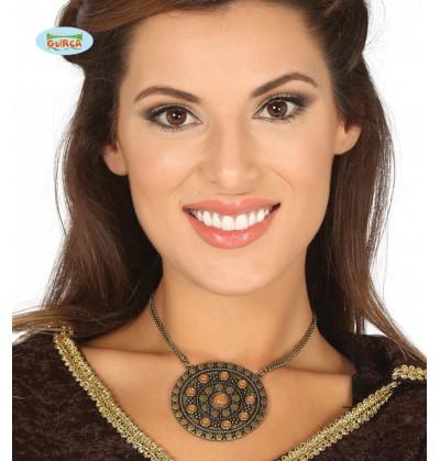 collar con medalln medieval
