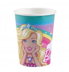 set de 8 vasos de papel de barbie dreamtropia