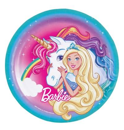set de 8 platos grandes de barbie dreamtropia