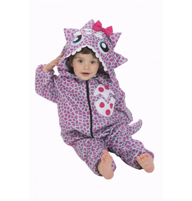disfraz de dinosaurio pink para beb