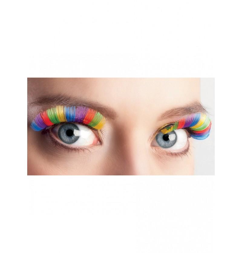 Pestañas multicolor para mujer