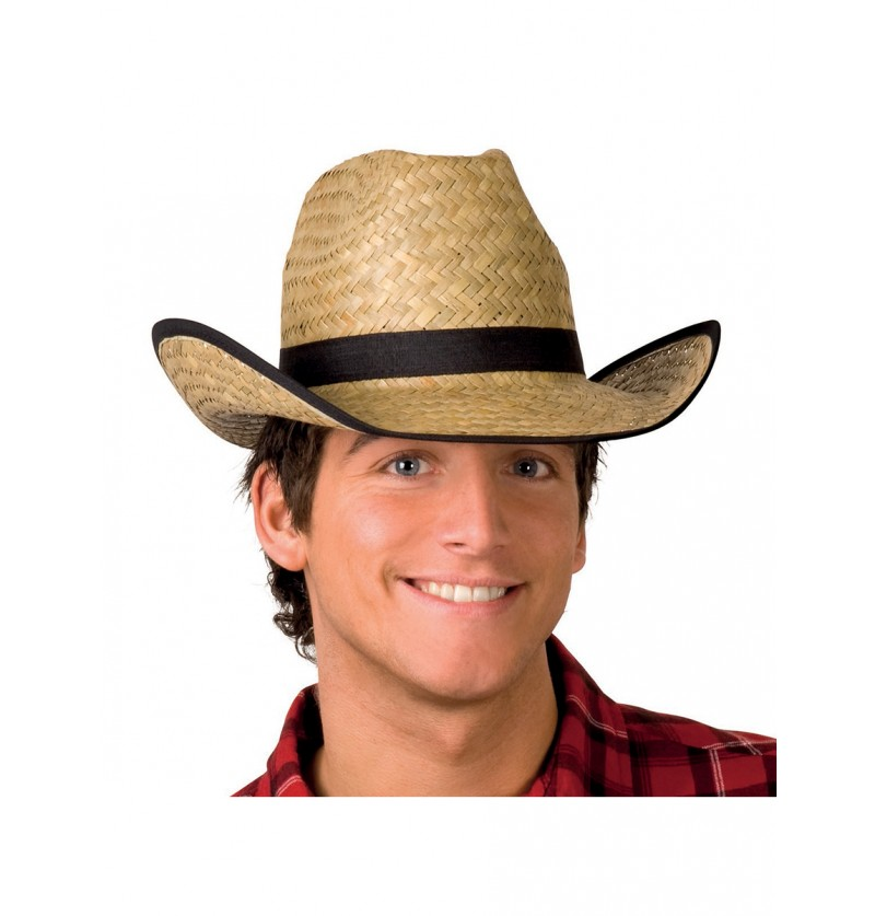 Sombrero vaquero de paja para adulto e1016951291