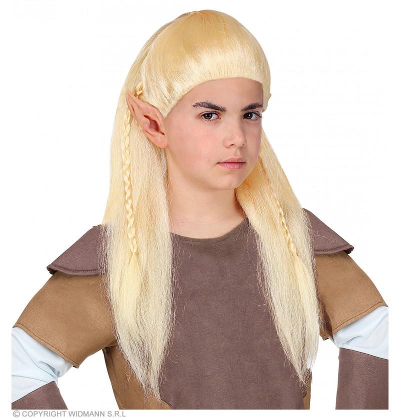 peluca de elfo arquero para nio