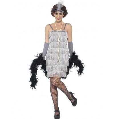 disfraz de charlestn aos 20 plateado para mujer