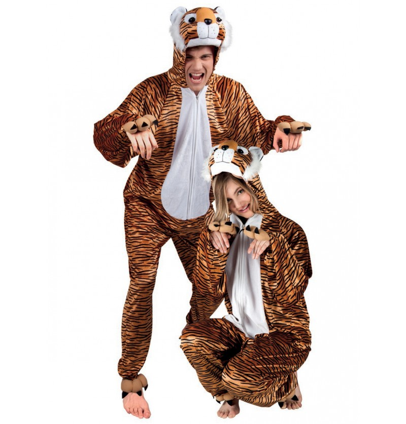 Disfraz de tigre de peluche para adulto