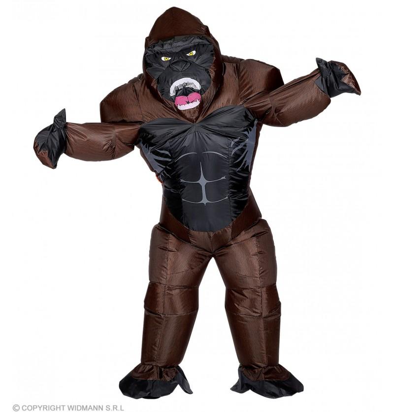 disfraz de gorila kong hinchable para adulto