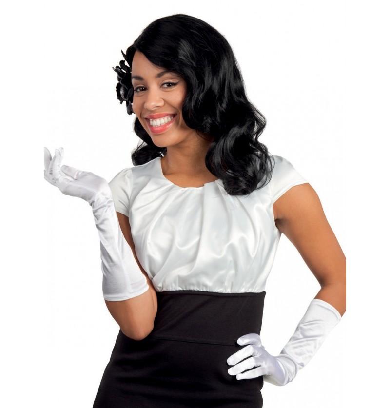 Guantes blancos elegantes para mujer