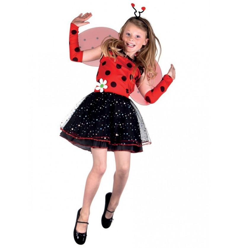 Disfraz de lady mariquita para niña