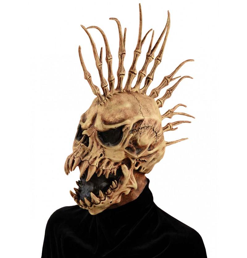 Máscara de esqueleto punkarra del infierno para adulto