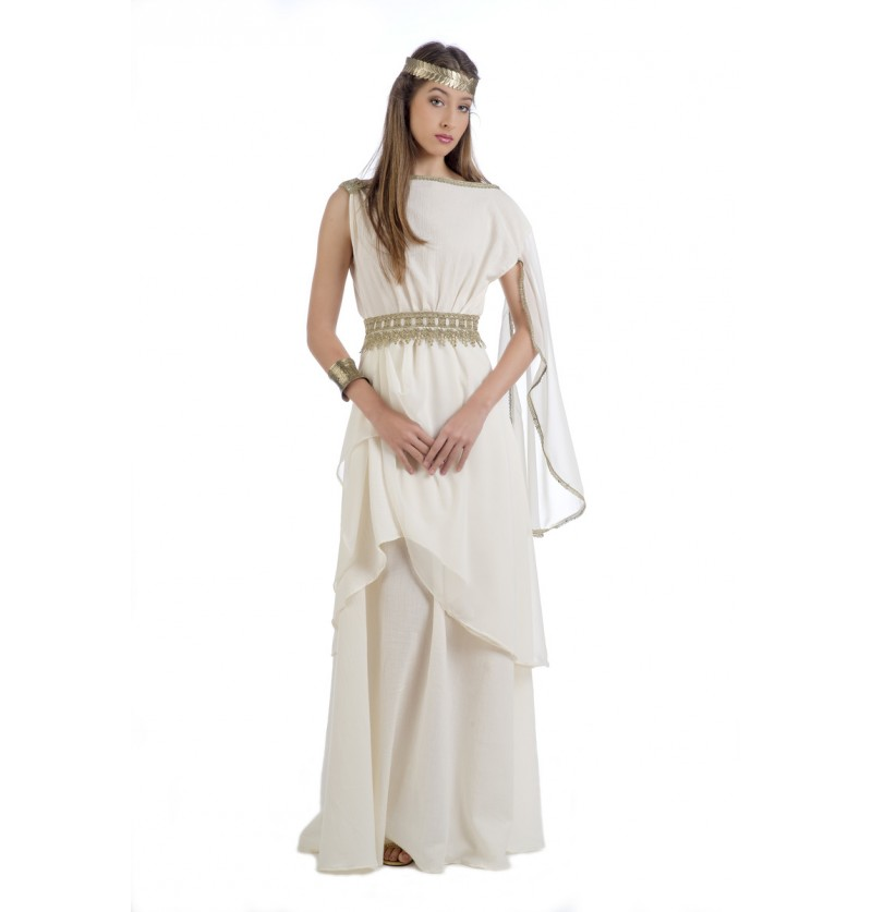 Disfraz de diosa del Olimpo elegante para mujer