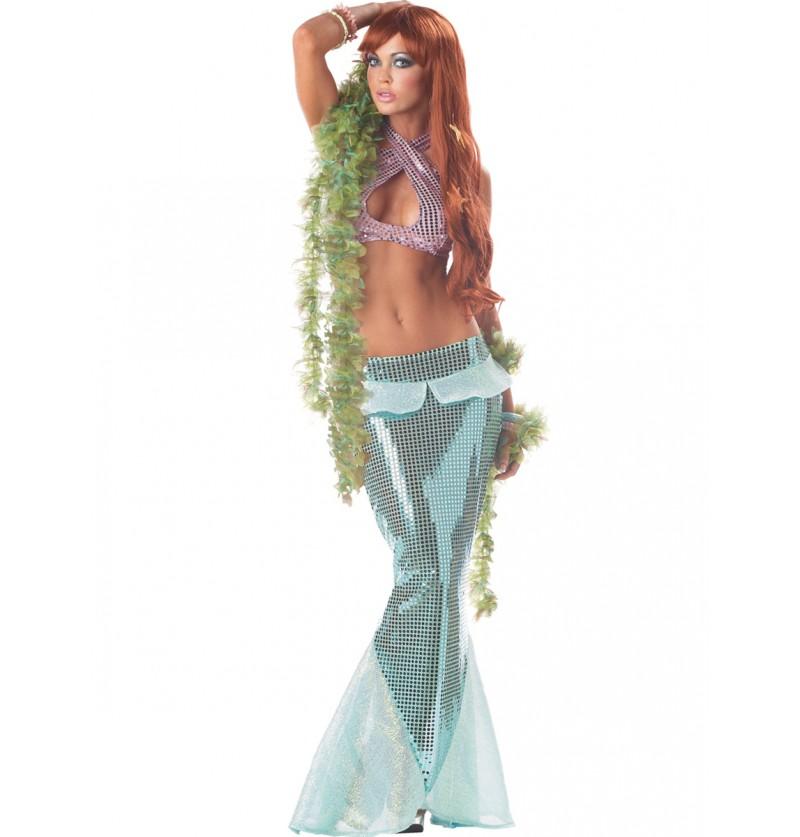Disfraz de sirena oceánica para mujer