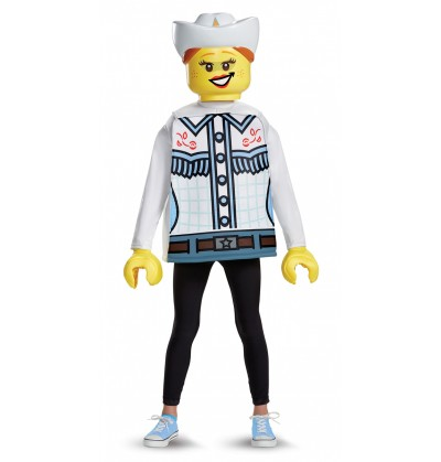 disfraz de vaquera lego para nia