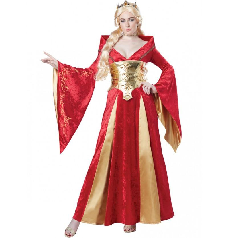 Disfraz de reina roja para mujer