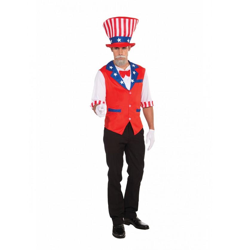 Kit disfraz del Tio Sam para hombre