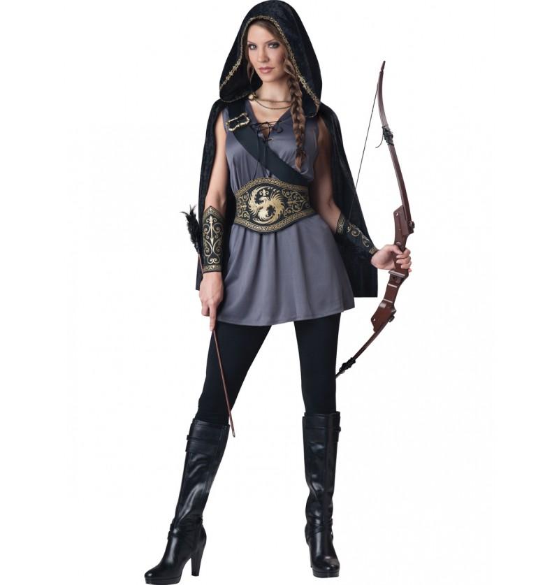 Disfraz de cazadora encerrada para mujer