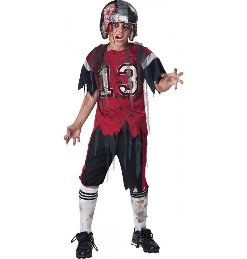 Disfraz de jugador de Rugby zombie para niño