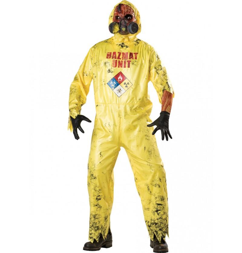 Disfraz de zombie radioactivo para hombre