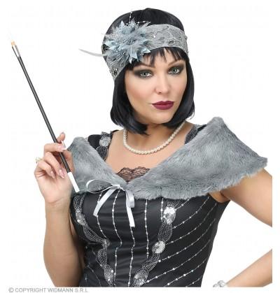 kit de accesorios charlestn aos 20 gris para mujer