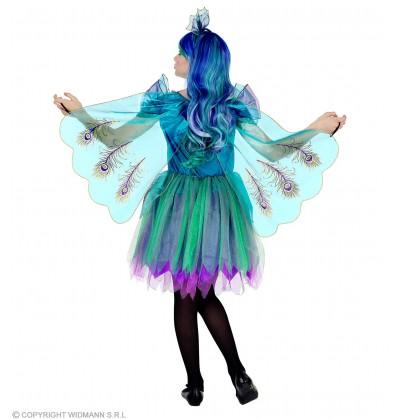disfraz de pavo real para nia