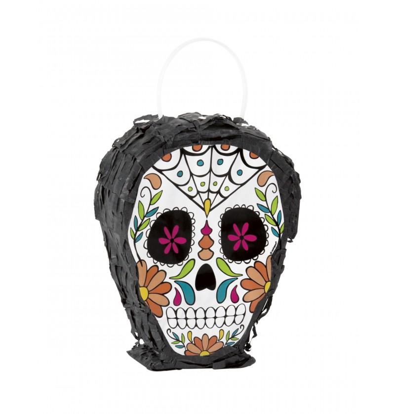 mini piata de catrina skull day of the dead