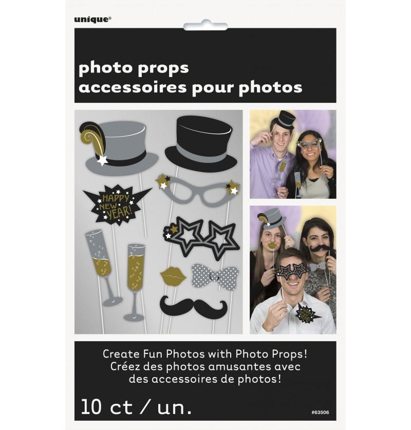 set de accesorios para photocall jazzy new year s