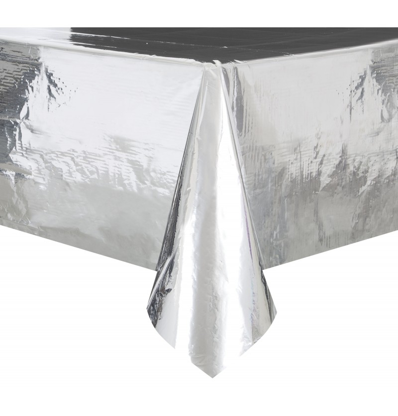 mantel rectangular plateado basic christmas
