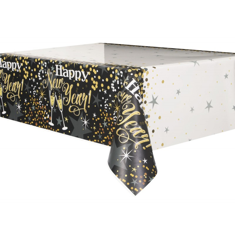 mantel rectangular de nochevieja glittering new year