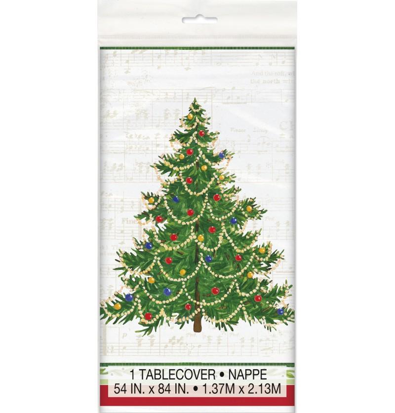 mantel rectangular con rbol de navidad classic christmas tree