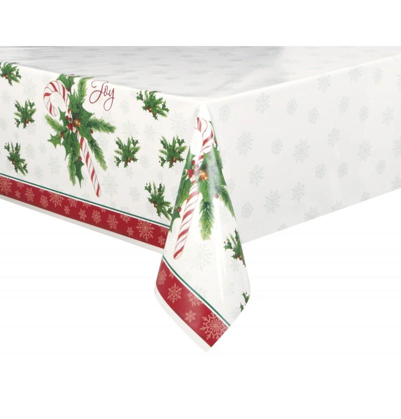 mantel rectangular de caramelo navideo candy cane christmas