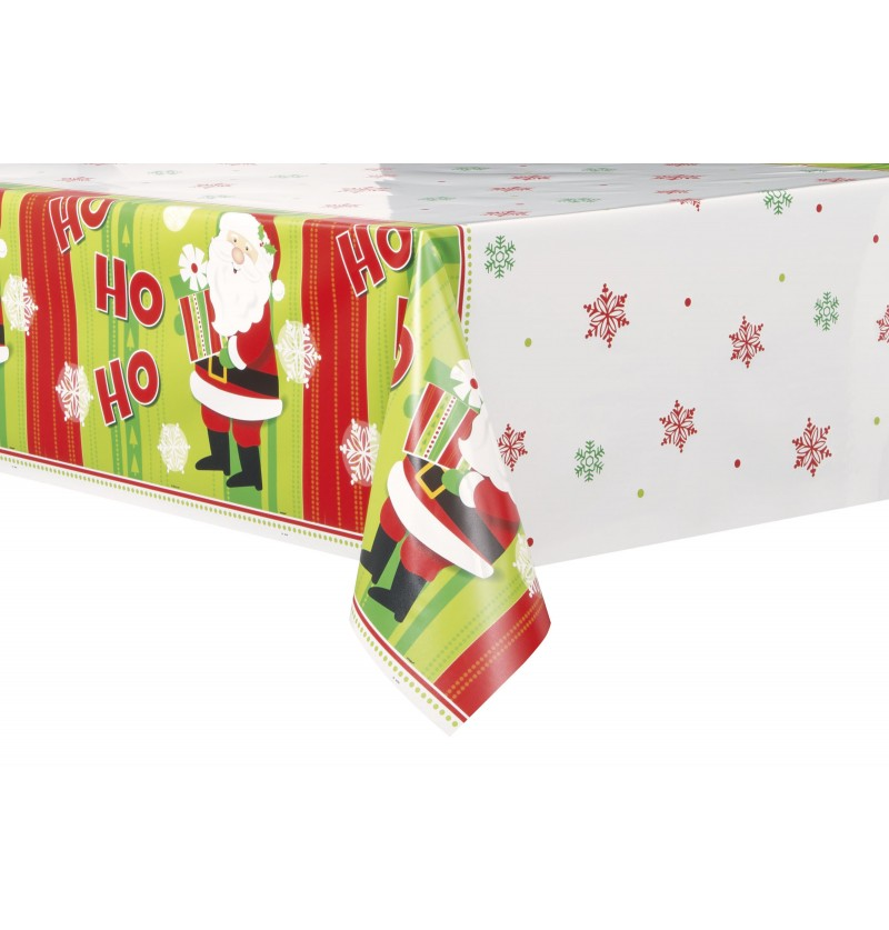 mantel rectangular de pap noel happy santa