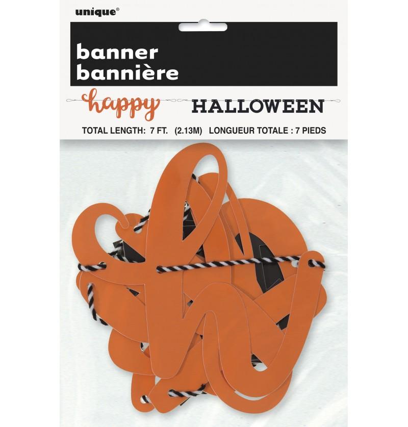 guirnalda happy halloween de dos piezas basic halloween
