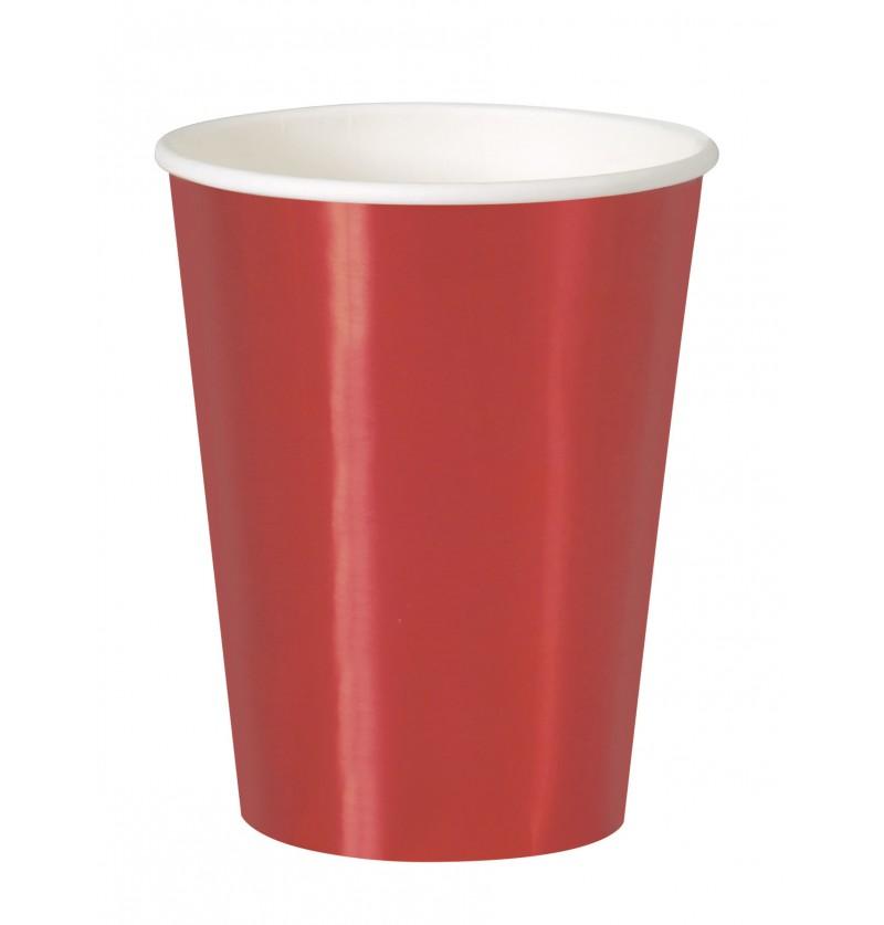 set de 8 vasos rojos solid colour tableware