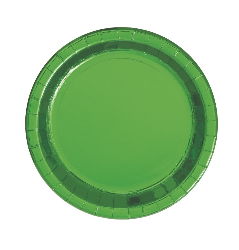 set de 8 platos redondos verdes solid colour tableware