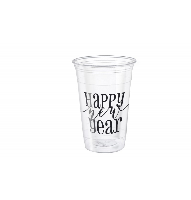 set de 8 vasos grandes de nochevieja happy new year