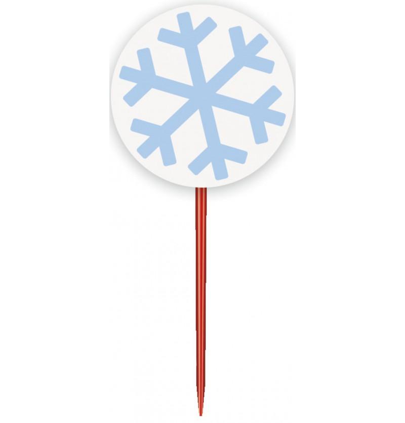 set de 24 kits para cupcakes white snowflakes