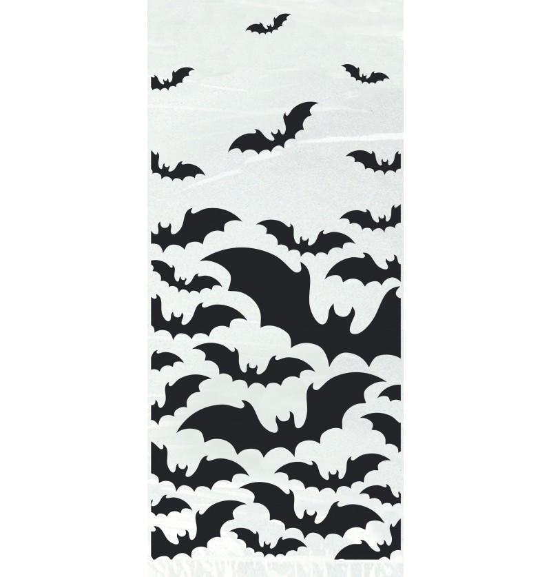 set de 20 bolsitas transparentes con murcilagos black bats halloween