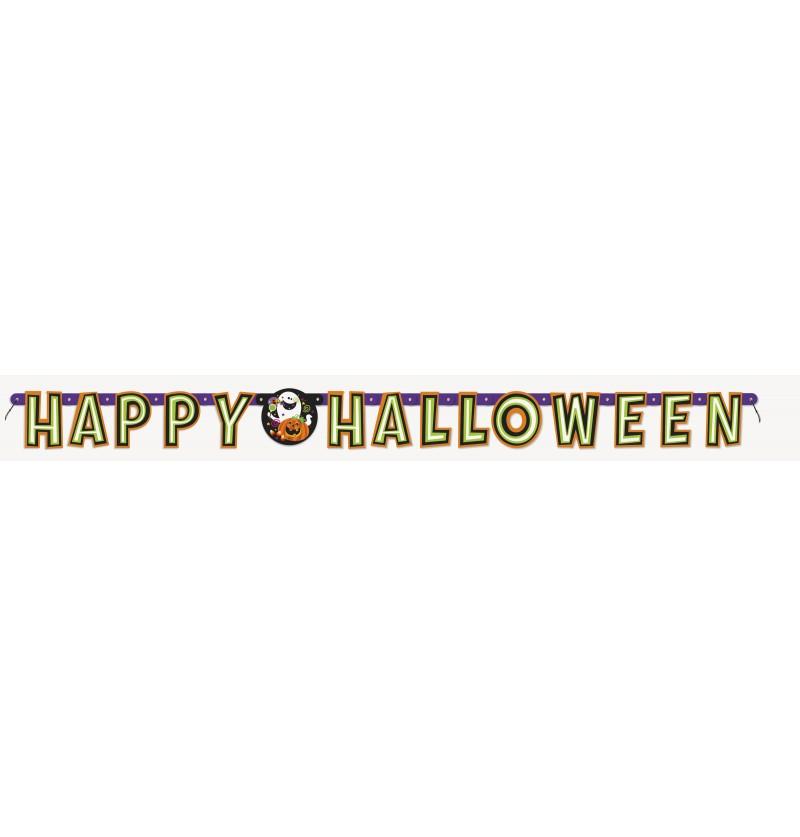 guirnalda calabaza gato y fantasma divertidos happy halloween