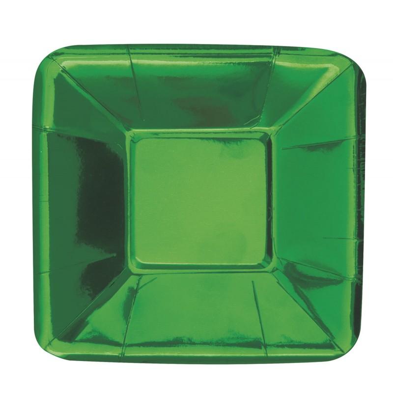 set de 8 bandejas cuadradas verdes solid colour tableware
