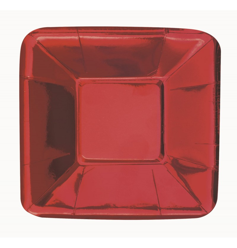 set de 8 bandejas cuadradas rojas solid colour tableware