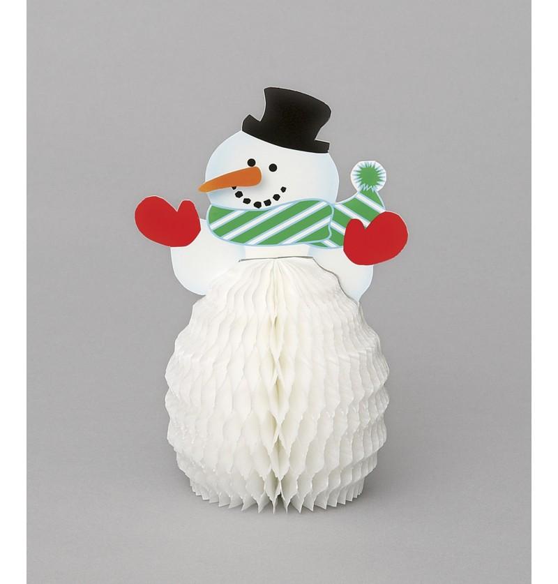 set de 4 mini adornos de panel de abeja mueco de nieve basic christmas