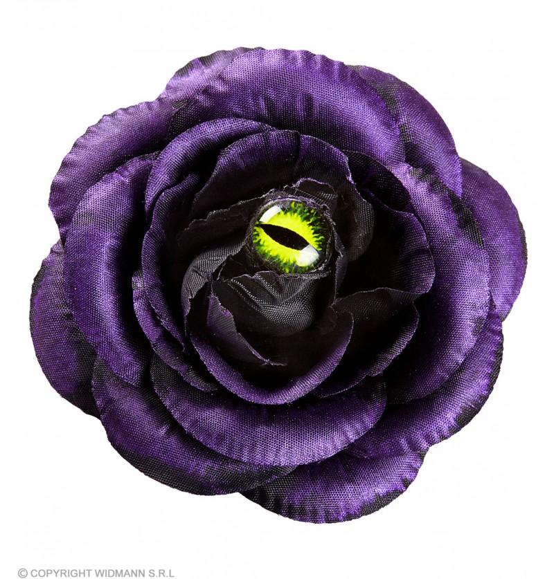 clip para el pelo de rosa violeta