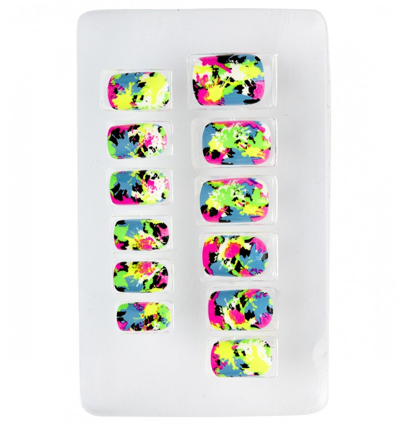 set de 12 uas mosaico fluorescentes auto adhesivas