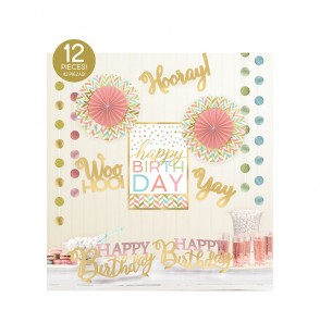 kit de decoracin para habitacin happy birthday