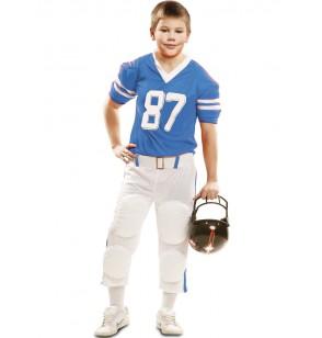disfraz de jugador de ftbol americano azul 87 para nio