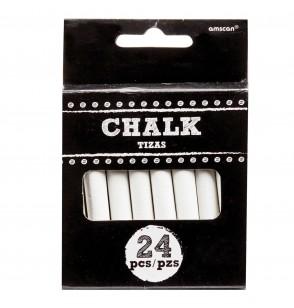 paquete de 24 tizas blancas para pizarra