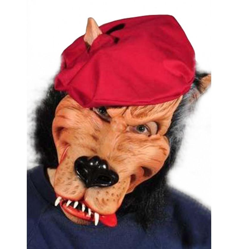 Máscara de lobo malo para adulto