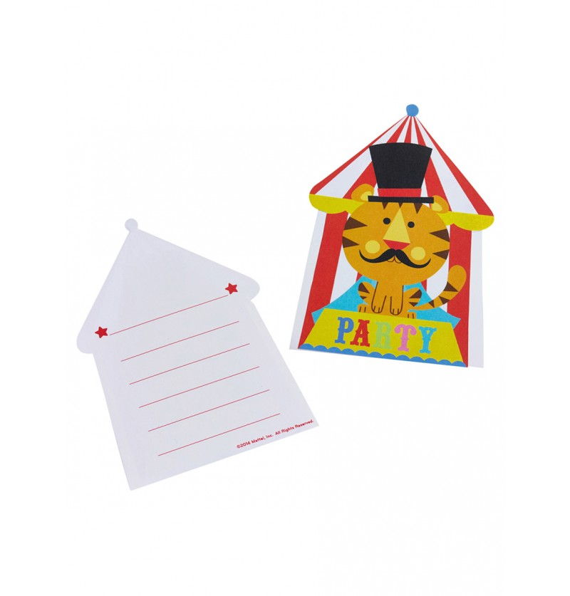Set de invitaciones de Fisher Price Circus
