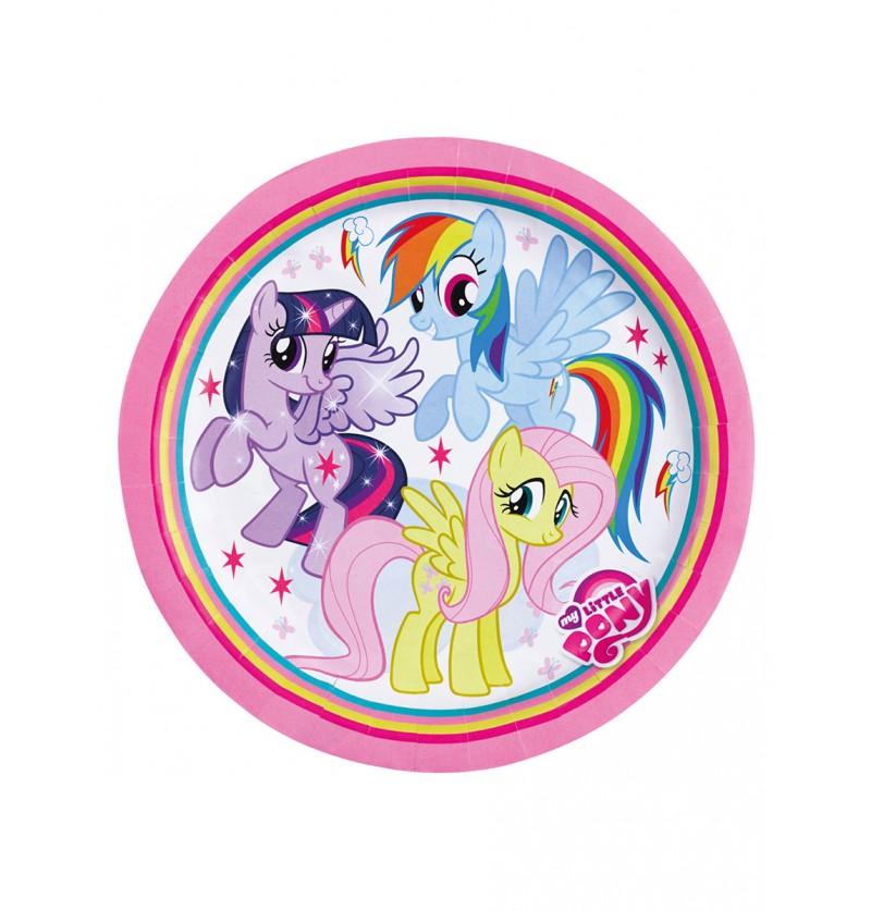 Set de 8 platos grandes de Mi Pequeño Pony