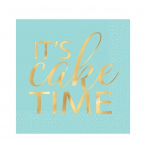 set de 16 servilletas de bebida it s cake time
