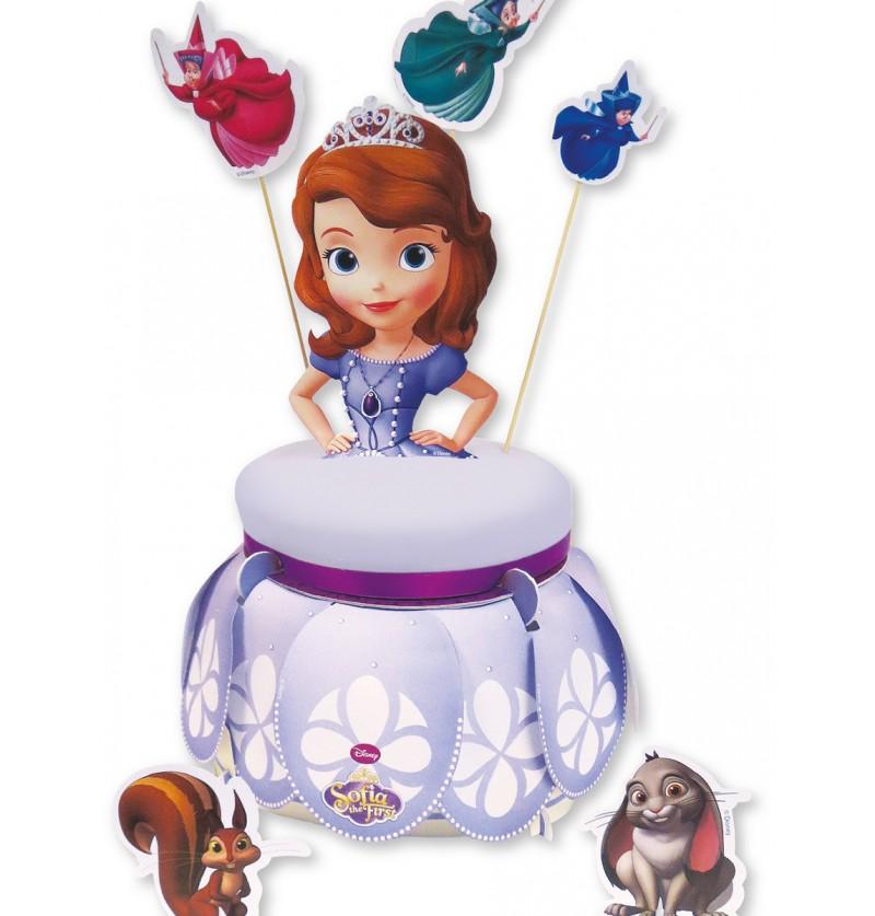 Bases para tartas y kit de decoración de tartas la Princesa Sofía